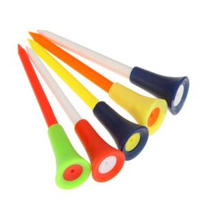 Multi Color Plastic Golf Tees 83 milímetros almofada de borracha durável Top Golf Tee Golf parafuso prisioneiro bola de plástico WS-26