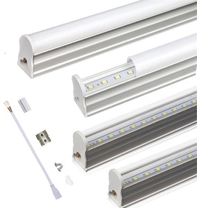 T5 Integrated LED Tube 2ft 3ft 10W 14W led lights AC85-265V SMD 2835 LED Fluorescent Light Tubes Transparent cover milky cover