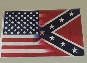 New 90*150cm American Flag with Confederate Rebel Civil War Flag new style hot sell 3x5 Foot Flag 30pcs DHL