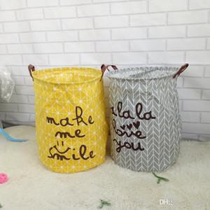 가정용 가구 보관 바구니 더러운 옷에 방수 처리 잡화 세탁 바구니 받기 어린이 장난감 상자 두 가지 색상 9 8ys ii
