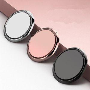 Universal-Spiegel-Metallfinger-Ring-Halter für iPhone 11 Samsung Fall Handy steht Schreibtisch Dock 3M Aufkleber mit Halterung