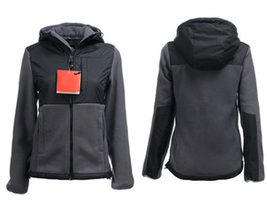 HIGH Quality Invierno Mujeres Fleece Hoodies Chaquetas Camping Windproof Ski Warm Down Coat Casual Casual con capucha SoftShell Sportswear Negro S-XXL