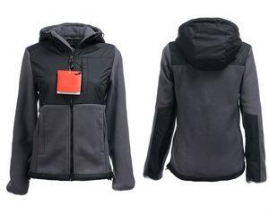 Haute Qualité Hiver Femmes Polaires Hoodies Vestes Camping Coupe-Vent Ski Chaud Manteau En Plein Air Casual À Capuche SoftShell Sportswear Noir S-XXL