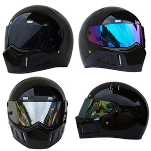 Triclicks Sport Moto MX VTT Dirt Bike Casque Glossy Black Street Kart Bandit facial Casques de protection Motocross Casque