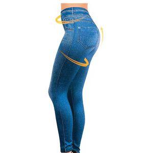 Leggings Jeans Für Frauen Jeans Mit Tasche Dünne Leggings Frauen Fitness Plus Size Leggins S -Xxl Schwarz / Grau / Blau