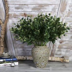 Alta Quailty all'ingrosso Accenti casa Verde Cercis Chinensis lascia decorazione Faux floreale Bouquet Bouquet di fiori di disposizione
