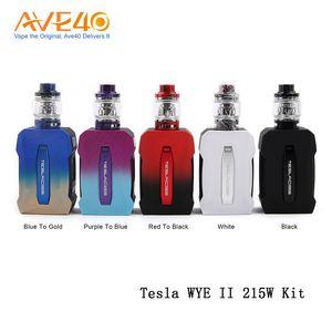 100% Original Tesla WYE II 215 W Kit Com Resina Tanque 4 ml WYE II Poder por dual 18650 bateria
