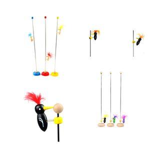 Cute New Woodpecker Pole Vintage Classic Toy scorrevole Baby Education colori casuali di alta qualità regalo di compleanno per i bambini