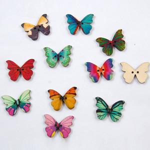 Colorfu Holz Schmetterling Form Gravur natürlichen Woodcraft für Hochzeit / Scrapbooking Verzierungen