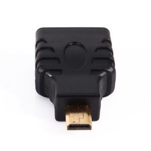 VBESTLIFE Cables de audio HDMI Micro HDMI macho a HDMI hembra Adaptador de enchufe Adaptador de conector enchapado en oro Convertidor para HDTV TV BOX