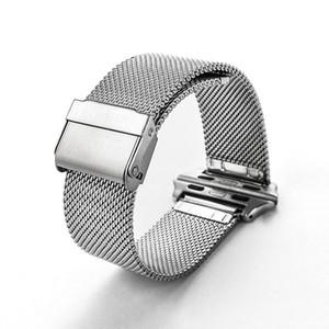 Akıllı İzle Bantları Milan örgü kemer 316 paslanmaz çelik Bilek Bilezik Spor Band Kayışı Apple İzle Serisi 38 / 42mm Evrensel model Gümüş