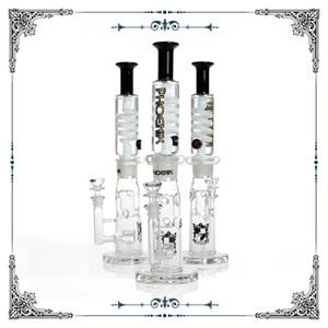 Phoenix preto branco hetero fable jet perc freezable bobina tube bong vidro tubulação de água construir um narguilé de glicerina fumar frete grátis