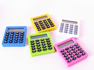 1 PCS 2017 New Student Mini Electronic Calculator Personalized Mini Candy Calculating Office Supplies Gift Coin Battery