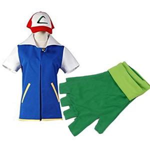 Ash Ketchum Veste Avec Chapeau Cendres Cosplay Costume Unisexe Sur Mesure
