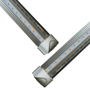Cooler Door LED Tube V Shaped 8FT Lights 4FT 5FT 6FT 8 Feet LED T8 52W 72W Double Side Integrated Fluorescent Lamp