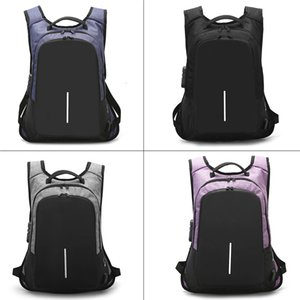 New Arrive Unisex Cipher Lock Anti-Theft Backpack USB Charger Port Laptop School Business Travel Bag