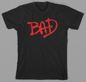 Bad T Shirt - michael jackson, logo, thriller, anni '80, re del pop, ballo T-Shirt in cotone TAGLIA TUTTE LE DIMENSIONI Spedizione gratuita