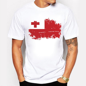 Tonga Flag T-shirt Männer Mode Sommer Kurzarm Baumwolle Marken Design T-shirts Tonga Nationalflagge Coole Tops Tees