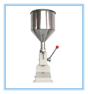 Manual de máquina de enchimento de alimentos 1-50 ml mão pressão inoxidável pasta de dispensação de equipamentos de embalagem de líquidos máquina de prateleira de óleo de creme