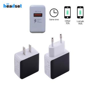 QC3. 0 Fast USB зарядное устройство путешествия адаптер быстрая скорость зарядки зарядное устройство США ЕС для смартфонов samsung