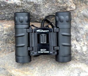 8X21 binocolo a coste oblique portatile ad alta potenza HD ottico non infrarosso esterno a bassa luminosità visivo