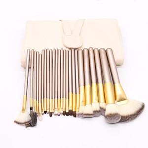 Maquiagem Escova MyBasy Novo Design Profissional Bege 24 Pcs Escovas de Maquiagem Conjuntos Cosméticos Oval Fundação Cosmética BB Creme Pó Blush DHL