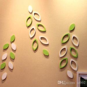 Romanzo fai da te 3D Wall Sticker per decorazioni camera bambino Foglie paster forma adesivi murali in legno Facile Carry 3 9hj cc
