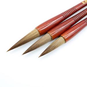 Cepillos de escritura de madera Cabello de lobo Caligrafía china tradicional Pintura Práctica Festival Pareados Suministro de guión regular