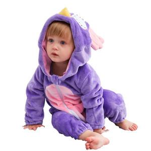 Sonbahar kış ins pazen bebek tulum çocuk baykuş karikatür sevimli küçük pembe domuz bebek onesies toptan