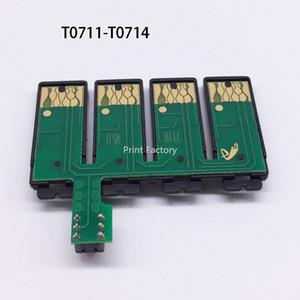 Puce combinée de T0711-4 CISS pour Epson SX405 BX310FN BX300F BX3450F BX600FW BX610FW B40W D78 D92 DX7000F DX5000 DX4050 DX4000