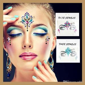 3D Etiqueta Do Tatuagem De Cristal DIY Rosto Acrílico Decoração Adesivos Para O Partido Do Disfarce Mulheres Decorações de Casamento Bling Estilo 4 5yy ZZ