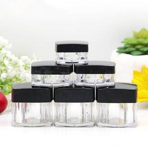 50PCS Vider Mini Jars Effacer crème en plastique 3g 5g 10g 20g Maquillage échantillon Nail Art Baume à lèvres fard à paupières Container Pots Emballage