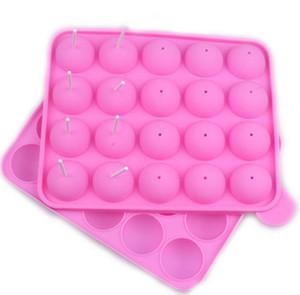 20 Même bricolage moule de gel de silice bricolage cuisson sphériques chocolats Lollipop silicone modèle
