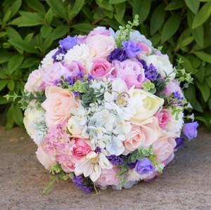 يونغ الاستحمام الحب نهر تصدير أجيال التجارة الخارجية العروس عقد باقات جديدة وأنيقة من الورود الاصطناعية