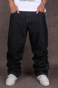 Uomini di Hip Hop 'Designer S Black Jeans larghi Hip Hop Cholyl Marca Skateboard pantaloni larghi di stile vero Hiphop Rap Jeans Boy