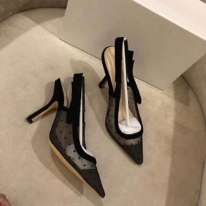 2018 Populaire D'été Dames Sandales Riband Décoration En Métal Peep Toes Ankle Strap Chunky Chaussures À Talons Party Sexy Mode Dames Chaussures