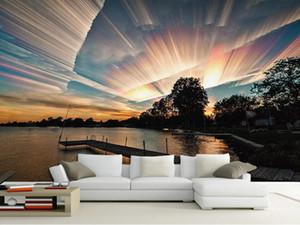 Пользовательские 3d стереоскопические обои небо пейзаж пейзаж обои для спальни стены телевизор фон фото обои 3d