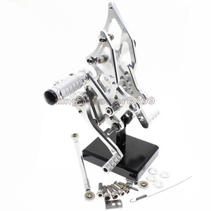 Motorcycle Rearset Foot Pegs Rear Set Footrests Fully Adjustable Foot Boards Fit For Yamaha YZF R25 R3 2014-2017 MT-25 2015-2017