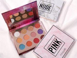 Nuovo HOT Marca FOCALLURE 12 colori Matt Shimmer Nude palette di ombretti Professionale Maquiagem trucco 3 stili DHL libero