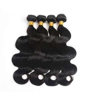 Grade 10a Hot Sale Body Wave Hair Bundles 8-30 Inch 100% Remy Hair Weave 4PCS Lot Natural Color Body Wave Indian Hair