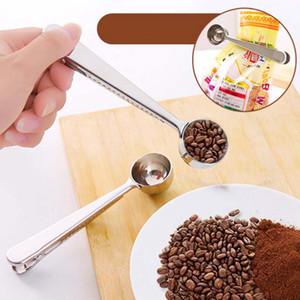 도매 다기능 스테인레스 스틸 커피 가방 씰링 우유 가루 차 스푼 주방 도구와 특종을 측정
