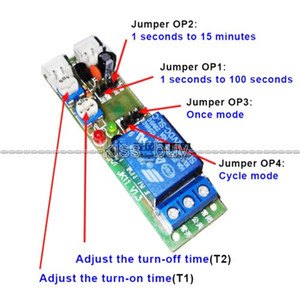 Freeshipping 15 minuti si regolano DC 12V Infinite ciclo di ritardo Timing Relay Timer ON OFF interruttore Loop modulo