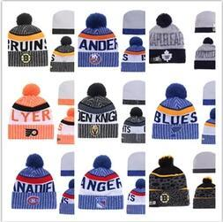 Winter-Hüte für Herren Strick NHL Wollhut Gorro Bonnet mit San Jose Sharks Beanie Boston Bruins Pittsburgh Penguins Winter warme Kappe