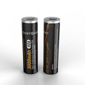 100% auténtico Zest de Quest ZQ 18.650 INR 3.7V 3000mah 40A Li-ion batería recargable 18650/21700/26650 batería