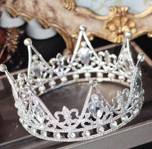 2019 Роскошные Кристаллы Свадебная Корона Bridal Tiara Барокко Королева Королев Crown Creeh Crinestone Bridal Tiara Crown Высокое качество