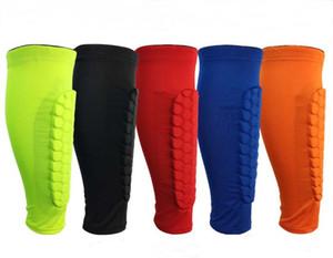 Honeycomb Vitello sport protezione Leg manica M-XL Sport Leg Protezione 5 colori Basket Calcio Parastinchi Anti-Crash gamba di supporto