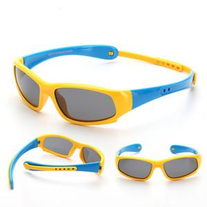 고품질 실리카 젤 어린이 선글라스 도매 2018 파란 승마 아기 선글라스 어린이 태양 안경 16 색 자동차 케이스