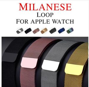 Milanese Loop para Apple reloj de la banda de 44 mm 42 mm 38 mm Enlace pulsera correa ajustable de la hebilla magnética con adaptador para iWatch Serie 4/3/2/1
