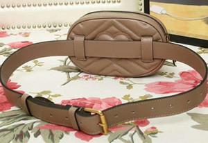 476434 18cm Marmont Matelasse Cinturón de cuero, Bolso de cintura, Cierre de cremallera superior, Forro de cuero, Viene con caja para bolsa de polvo