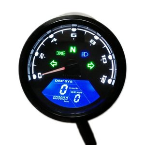 12000RPM 오토바이 속도계 게이지 속도 마일리지 LED 백라이트 12 볼트 오토바이 주행 속도계 속도계 회전 속도계 디스플레이 속도